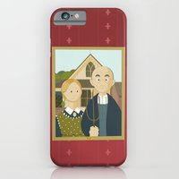 American Gothic by Grant Wood iPhone 6 Slim Case