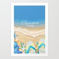 Summer Holiday Art Print