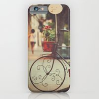 iPhone & iPod Case featuring The bike with the flowers by Nina's clicks