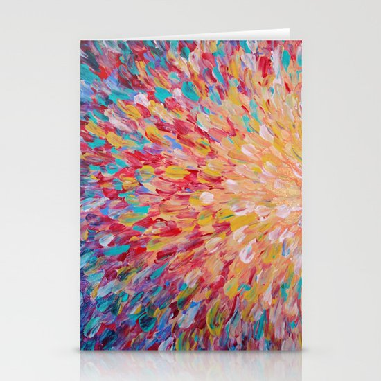 SPLASH - WOW Dash of Cheerful Color, Bold Water Waves Theme, Nature Lovers Modern Abstract Decor Stationery Card