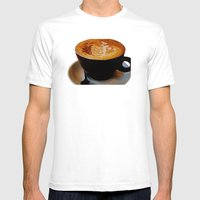 Loving My Latte Mens Fitted Tee White SMALL