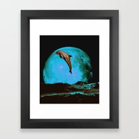 Magician Of Seas - Turqu… Framed Art Print