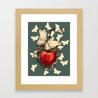 Cherry Butterflies Framed Art Print
