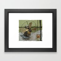 old antique fan Framed Art Print