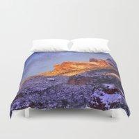 Montserrat Mountains Duvet Cover