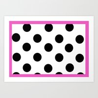 Pink And Dots Art Print