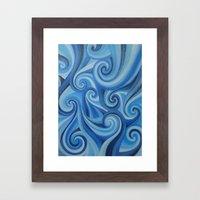 Parting Waves Abstract O… Framed Art Print