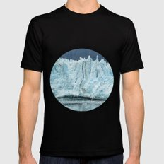 the marjorie glacier.  SMALL Mens Fitted Tee Black