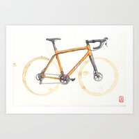 Coffee Wheels - Salsa Warbird Art Print