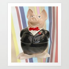 Nat West Piggy Ceramic Art Print