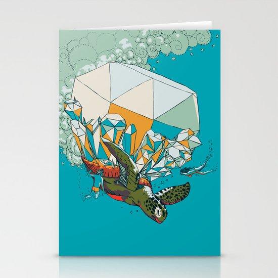 TURTLE& THE DIAMONDS Stationery Card