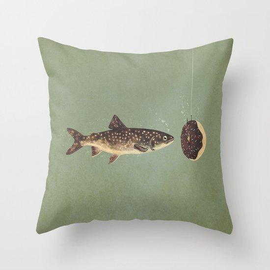 Irresistible Bait  Throw Pillow