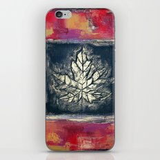 Leaf Imprint - Textured Painting iPhone & iPod Skin