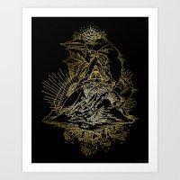 Sky Trumpets Art Print