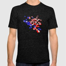patriotic jigsaw Mens Fitted Tee Tri-Black SMALL