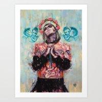 Portrait Of Rick Genest … Art Print