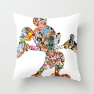 Mickey Mouse Silhouette  Throw Pillow