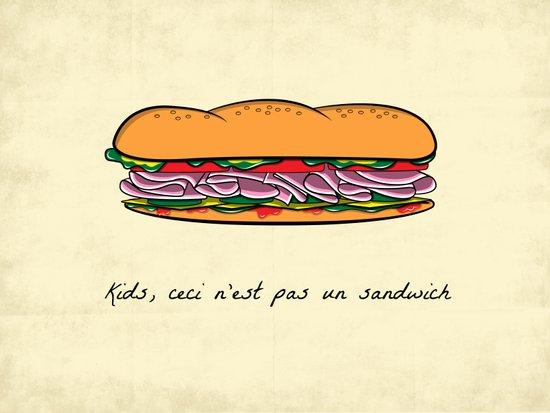 Ceci n'est pas un sandwich Art Print