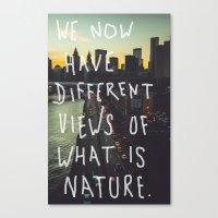 Different Views Canvas Print