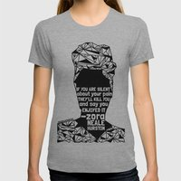 ZNH - If You Are Silent - Black Lives Matter - Series - Black Voices Womens Fitted Tee Athletic Grey SMALL
