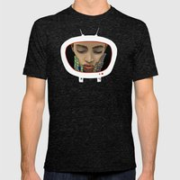 The Anxious Sleep Mens Fitted Tee Tri-Black SMALL