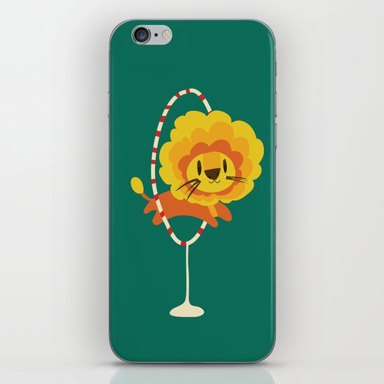 Lion hopped through a loop iPhone & iPod Skin