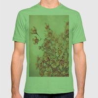 Orange Waxflowers Mens Fitted Tee Grass SMALL