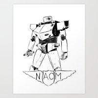 National Advisory Committee for Mecha-Electronics Art Print