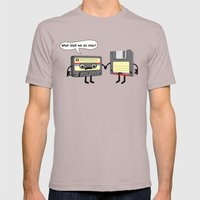 The Obsoletes (Retro Floppy Disk Cassette Tape) Mens Fitted Tee Cinder SMALL