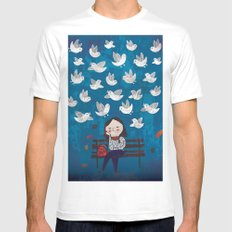 Catch sight of wonders! SMALL Mens Fitted Tee White