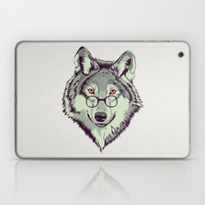 Wolf Head Illustration With Glasses Laptop & iPad Skin