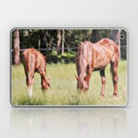 Horses Feeding In A Fiel… Laptop & iPad Skin