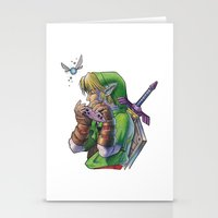 zelda Stationery Cards featuring Zelda by Melina Espinoza
