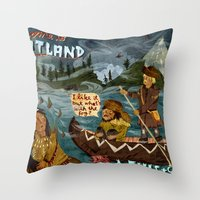 Postcard From Lewis + Cl… Throw Pillow