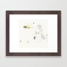 Waiting for the bear Framed Art Print