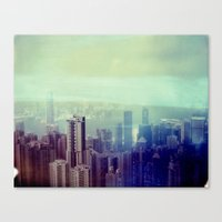 Hong Kong, Polaroid Canvas Print