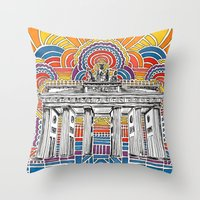Brandenburger Tor Throw Pillow