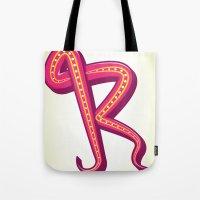 Curly R Tote Bag