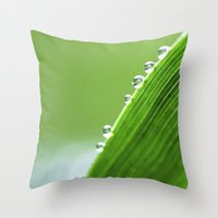 On The Edge Of Green - W… Throw Pillow