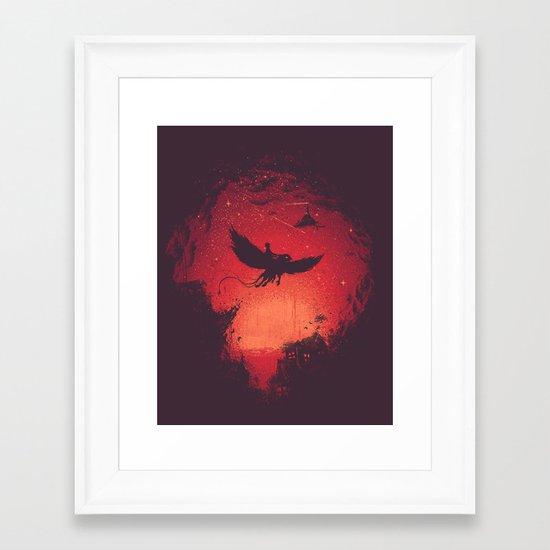 Go Back Home Framed Art Print