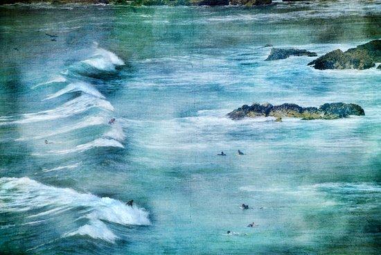Surfing Day at Sagres beach Art Print