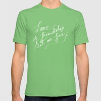 LOVE & FIRE Mens Fitted Tee Grass SMALL