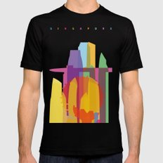 Shapes of Singapore. Mens Fitted Tee Black SMALL