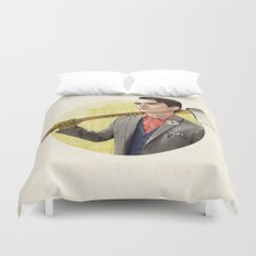 Mr. Michigan Duvet Cover