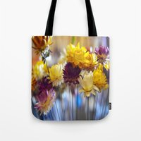 Straw flowers Tote Bag