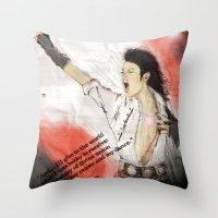 MJ Shamone!  Throw Pillow