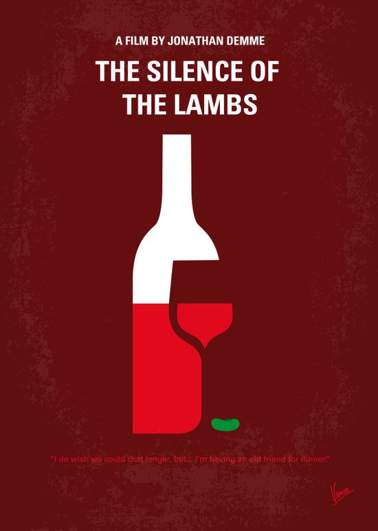 No078 My Silence of the lamb minimal movie poster Art Print