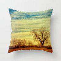 Under The Clouds Throw Pillow