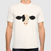 Cow-mor Mens Fitted Tee Natural SMALL