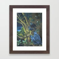 Dawn Chorus In The Prime… Framed Art Print